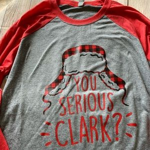 You Serious Clark Raglan Tee